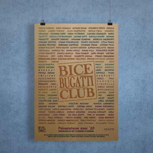 Poster Bice Bugatti Club